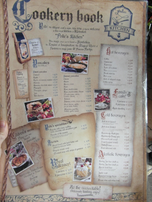 The Menu.  Click for a closer look!