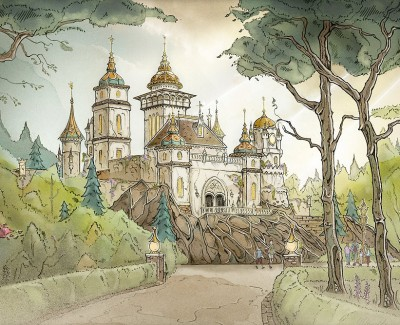 Concept art for Symbolica gives a better idea of how the attraction will look in the space.